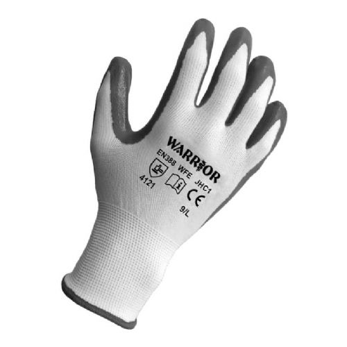 Warrior Grey Nitrile Gloves - 12 Pairs